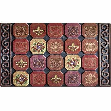 Colchones colchones colchones Qianmo-Carpet flocado de goma Alfombrillas de puerta exterior europea alfombrillas Alfombrillas