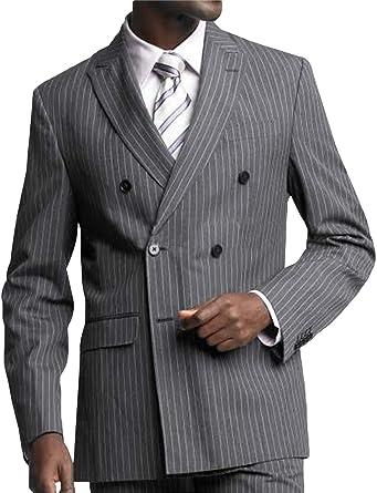 P/&G Herren Nadelstreifen Dreiteiliger Anzug Zweireiher Business Hochzeitsfest Jacke Weste /& Hose Set