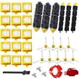VacuumPal Replacement Parts Kit Hepa Filters & Bristle Brush & Flexible Beater & Armed-3 Side Brush & Cleaning Tools for iRob
