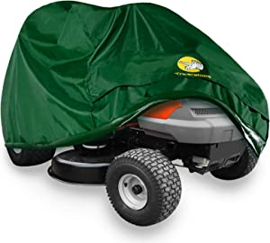 Lawn Mower Cover - Heavy Duty 600D Polyester Oxford Waterproof, Tractor Cover Fits Decks up to 54