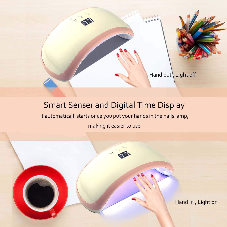 Nageltrockner, Beautlife LED Lampe 36W LED + UV Lampe für Gelnägel Tragbarer Nagellampe LCD Display mit Intelligenter Lampenfunktion 30/60/90s Timer