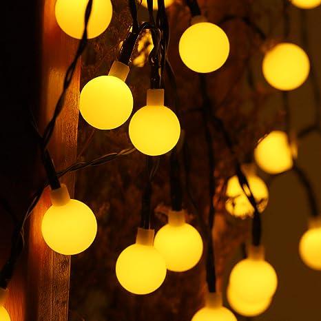Solar String Lights Grde 60led 35 6ft Solar Garden Lights 8 Modes Waterproof Solar Lights Outdoor Globe Crystal Balls Decorative Lighting Fairy Lights For Party Wedding Christmas Yard Decoration Amazon Com