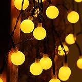 Solar String Lights, 60LED Solar Lights Outdoor 8 Modes &35.6ft Waterproof Outdoor Lights Globe Crystal Balls Decorative…