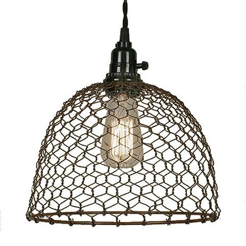 Chicken wire dome pendant light in primitive rust finish ceiling chicken wire dome pendant light in primitive rust finish aloadofball Choice Image