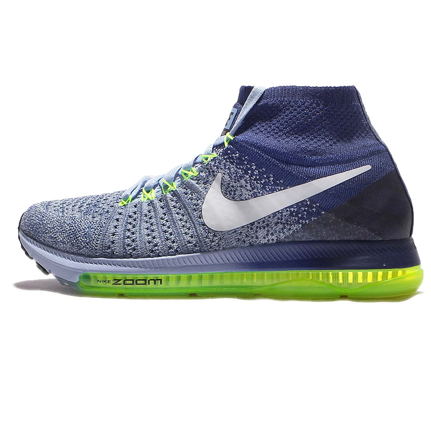 Nike Women's Zoom All Out Flyknit Running Shoes B01M1JEXCH 9 B(M) US|Bluecap/White-deep Royal Blue