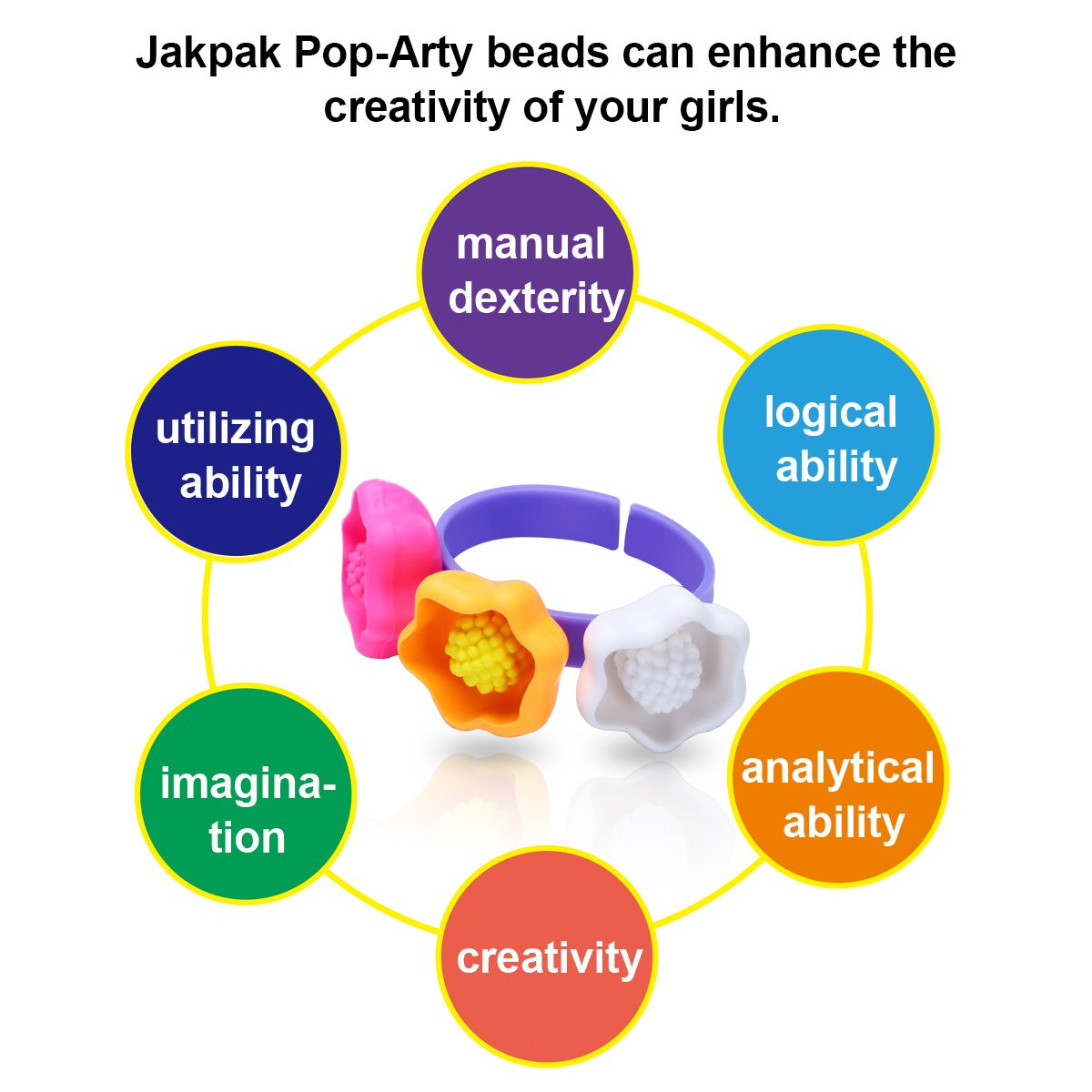 amazon com arts and crafts for girls jakpak bracelet jewelry amazon com arts and crafts for girls jakpak bracelet jewelry making kit 290pcs creativity for kids fashion games non toxic material made diy wear toys