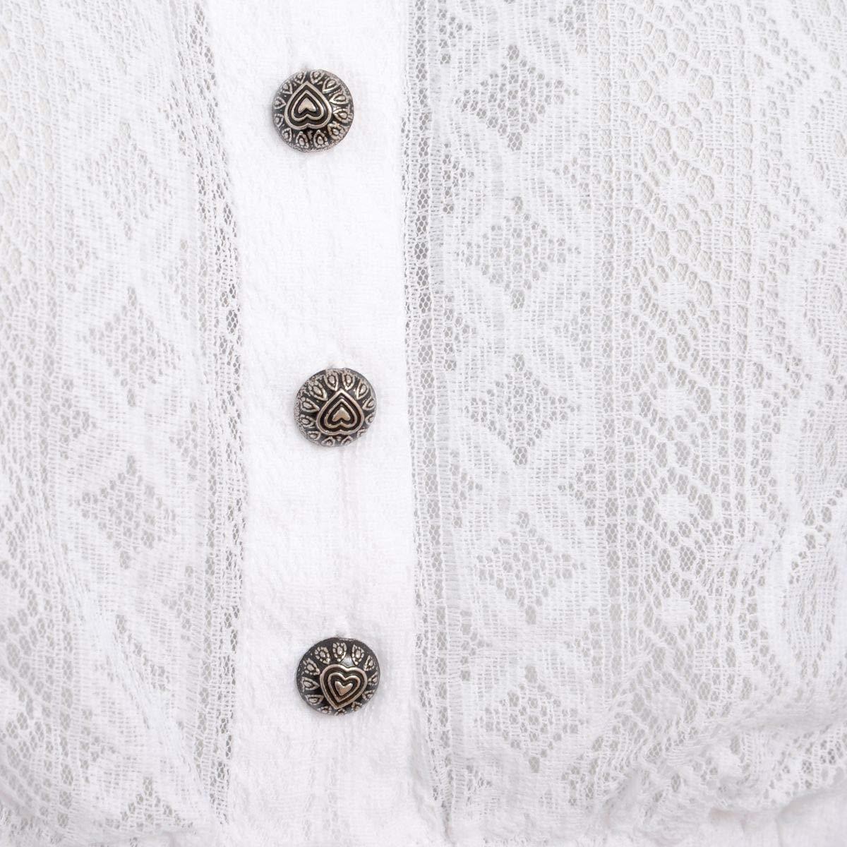 MarJo Trachten Damen Trachten-Mode DirndlBlause Bela-Anita in in in Weiß traditionell B07D4615Q5 DirndlBlausen Feines Nähen 15a298