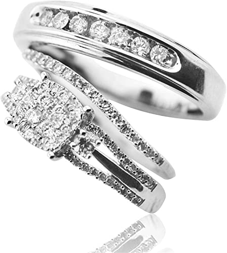 Bride And Groom Wedding Ring Sets