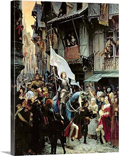 The Entrance of Joan of Arc into Orleans on 8th May 1429 Canvas Wall Art Print