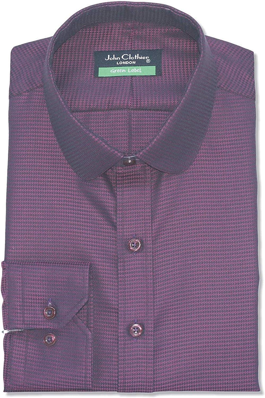 Hombre Granate Camisa Oxford Paliducho Anteojeras Centavo ...