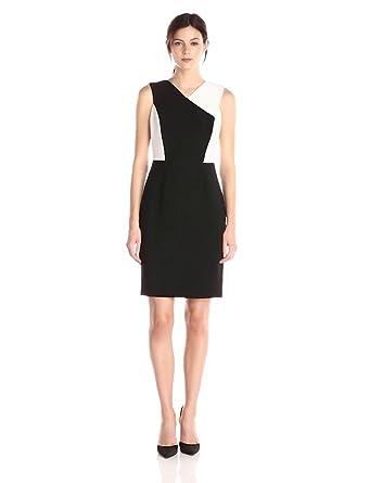 Calvin Klein Women S Halter Color Block Sheath Dress At Amazon