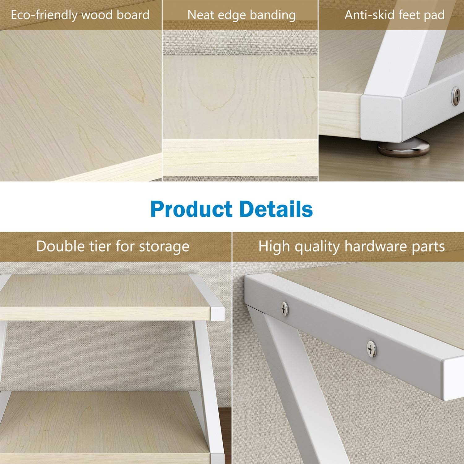 Desktop Stand for Printer - Desktop Shelf with Anti - Skid Pads for Space Organizer as Storage Shelf, Book Shelf, Double Tier Tray with Hardware & Steel for Mini 3D Printer by HUANUO : Office Products