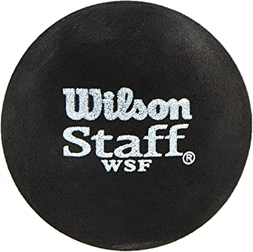Pack of 2 Black Red Dot Wilson Staff Squash Balls Medium Advanced