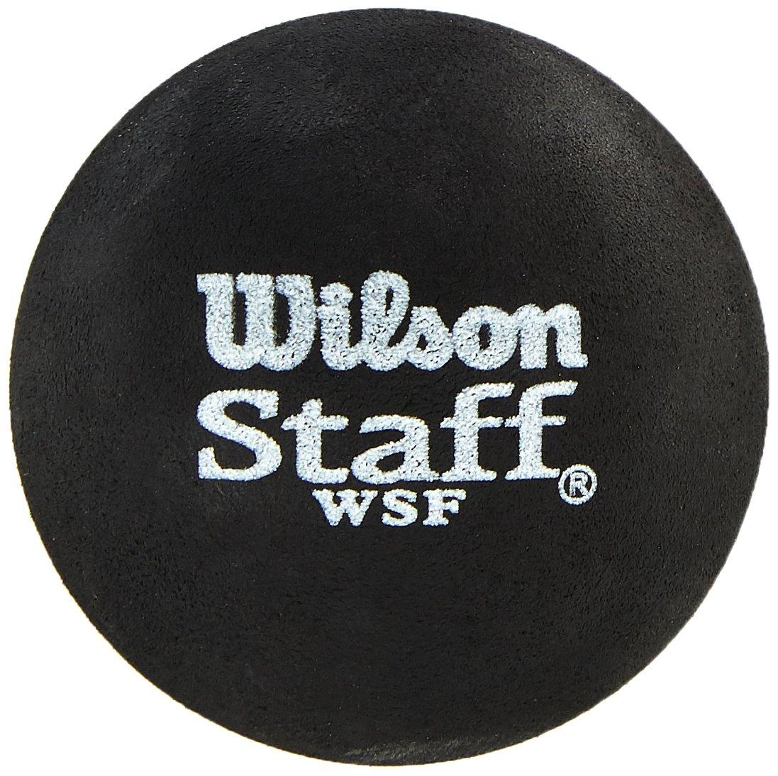 Wilson Balle de squash Intérieur, 2 Balles, Staff Squash, Noir Avancés Point jaune WRT617800 balles de squash