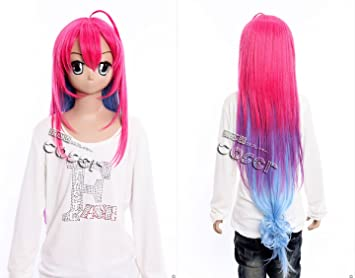 W de 360 a dark Rabbit Has Seven Lives saitohimea Rosa 100 cm Cosplay peluca Wig