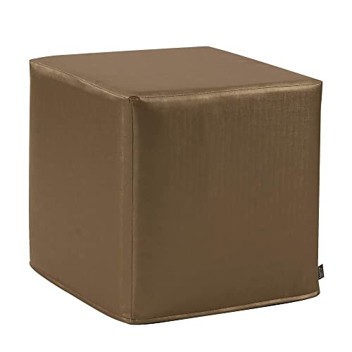 Howard Elliott No Tip Block Ottoman, 17 x 17 x 17-Inch, Luxe Bronze