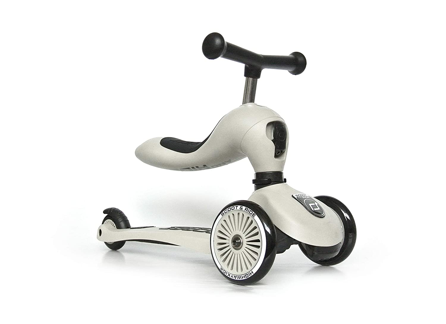 Scoot & Ride 2-in-1 Kickboard mit Sitz,(Steel)