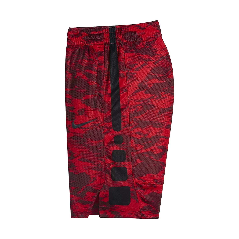 NIKE Boys Dry Elite Stripe Basketball Shorts (Dark Team Red(8MC314-R3M)/Black, 4)