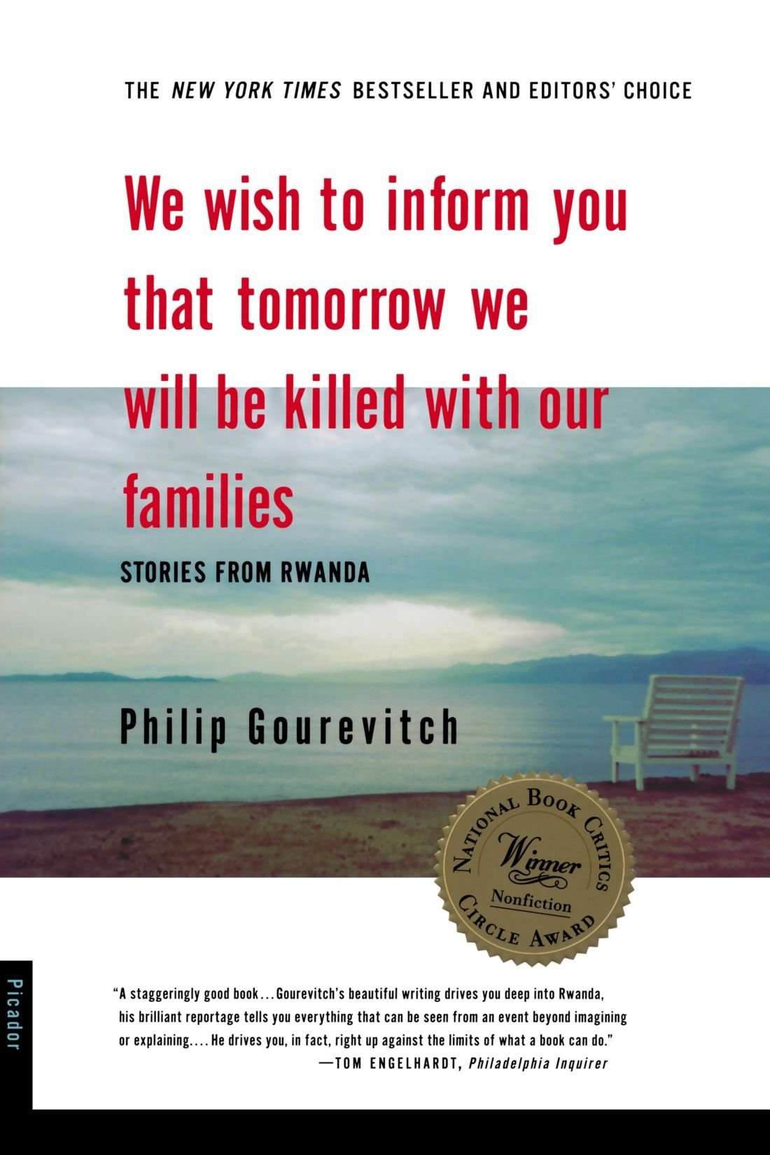 5f412f3094 We Wish to Inform You That Tomorrow We Will be Killed With Our Families   Stories from Rwanda  Philip Gourevitch  9780312243357  Amazon.com  Books