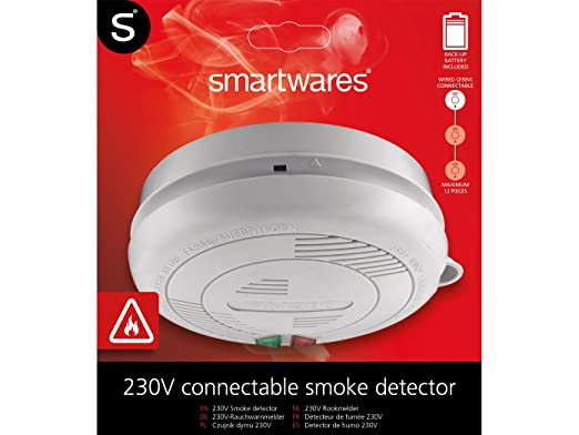 Juego de 8 de acordes/koppelbare Detector de humo con conexión de 230 V, seguridad batería + Fijación magnética.: Amazon.es: Bricolaje y herramientas