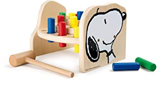 Martelletto in Legno Snoopy Peanuts 5725 Small Foot, Snoopy & Woodstock, 16 Elementi su Tre Livelli