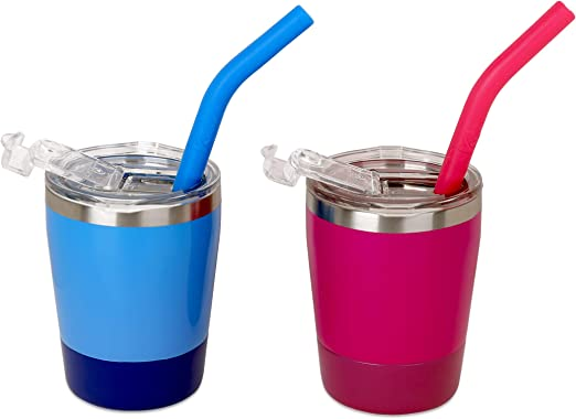 Amazon Com Colorful Straw Cups With Lids Pack Of 2 Kichuzl Dual Colors Toddler Cup Set Stainless Steel Mugs With Lids And Straws Light Blue Bright Yellow Rose Blue Coffee Cups Mugs,Different Types Of Flower Arrangements