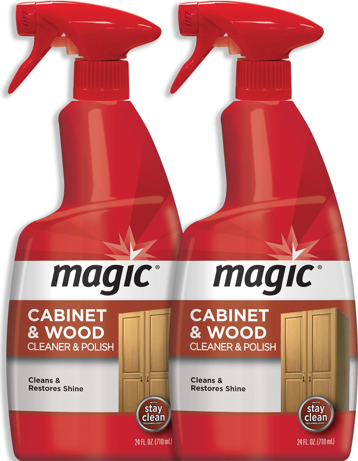 Magic Wood Furniture Cleaner and Polish - 24 Ounce (2 Pack) - Restore Wood Doors Tables Chairs and Cabinets by Magic