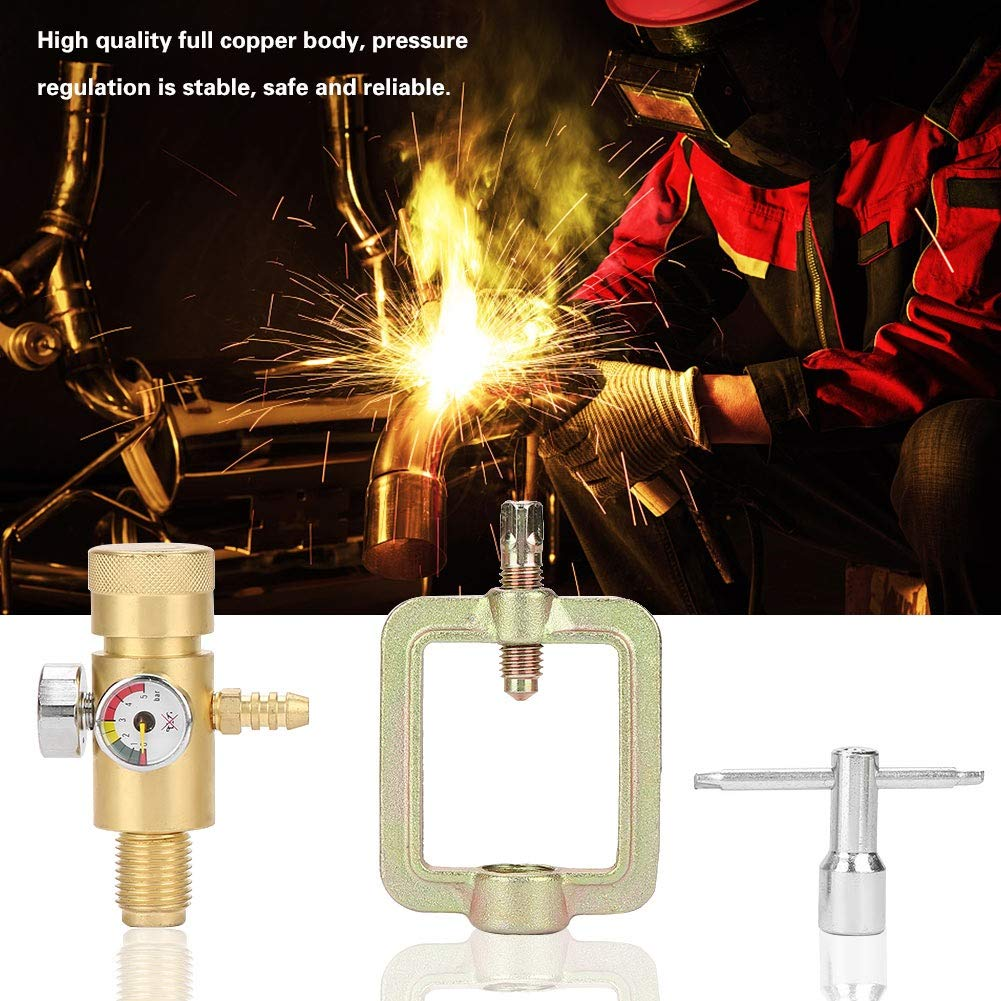 Acetylene Pressure Gauge - 0.01-0.15MPa Acetylene Gas Pressure Reducer Air Flow Regulator Gauge Meter by MLMLH (Image #3)