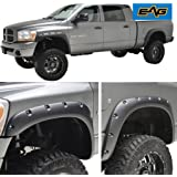 E-Autogrilles EAG Rivet Style Bolt on Pocket Fender Flares for 02-08 Dodge Ram 1500/03-09 Dodge Ram 2500/3500 HD