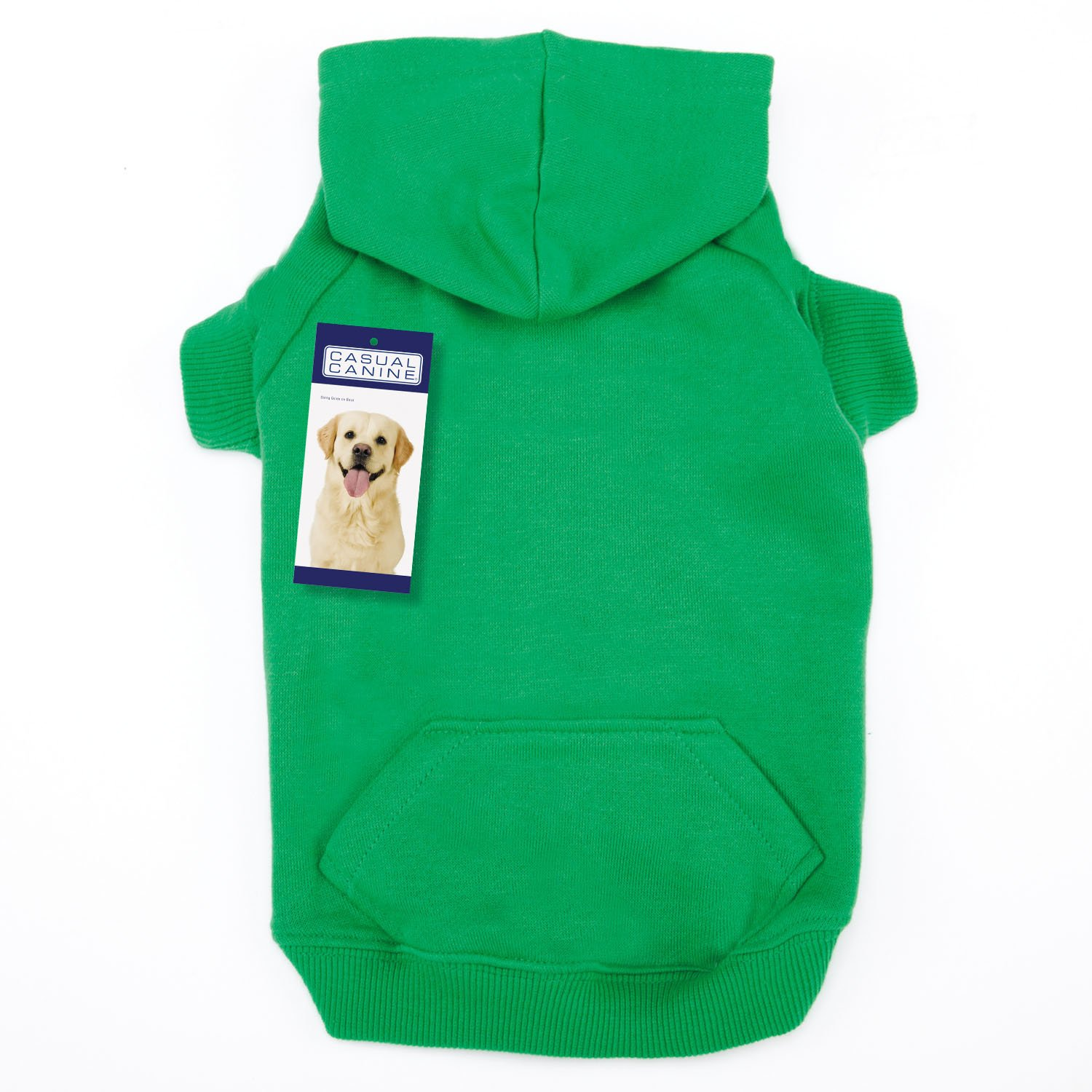Green L Green L Casual Canine Basic Hoodie for Dogs, 20  Large, Green