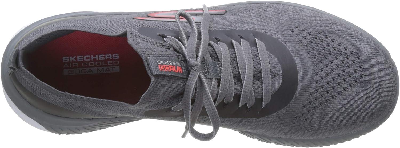 Skechers Go Run Steady, Baskets Femme Charcoal Textile Coral Trim Cc Cl