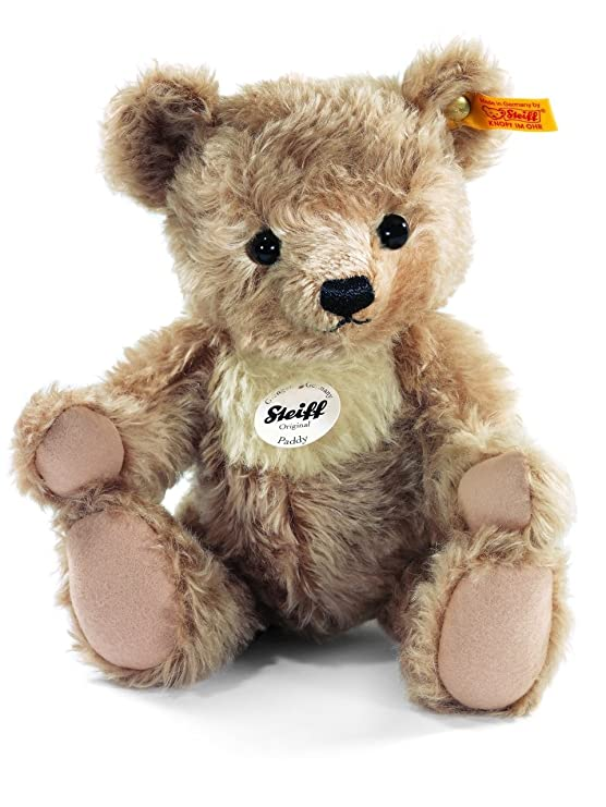 Steiff Paddy Teddy Bear Plush, Light Brown Plush Animals & Figures at amazon