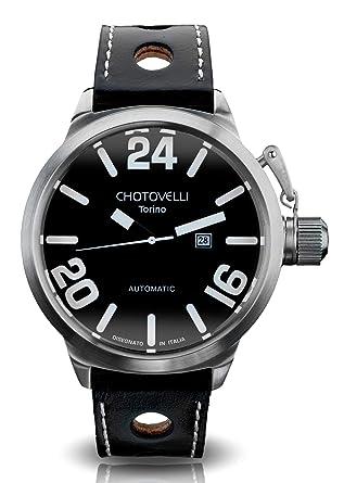 Chotovelli - Montre homme - cadran alfa romeo - bracelet noir en cuir  italien 80.1 e80a64bfcda