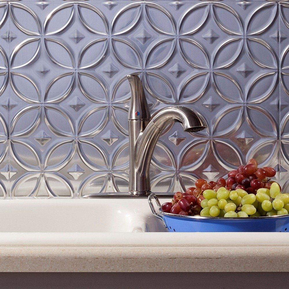 Fasade Easy Installation anelli in rame lucido Backsplash panel pannello per cucina e bagno 45,7/x 61/cm