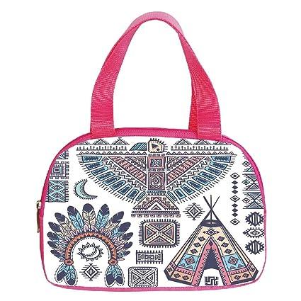 Amazon Vogue Small Handbag Pinktribalethnic Teepee Tents