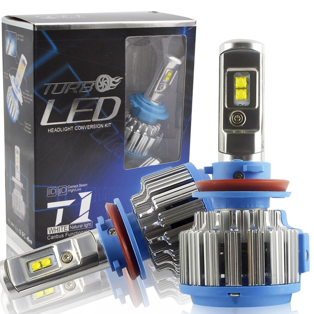 H4 LED Car Headlight Bulbs Kit - Safego 75W Hi/Lo Car LED Headlight Kit Bulbs 6Chips Tailor Made 7000Lm Auto Bulb Replacement for Halogen Lights White 6000K Waterproof T1-H4 YK