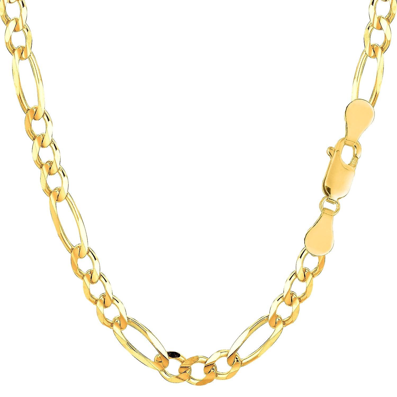 10k Yellow Gold Royal Figaro Chain Bracelet, 5.0mm