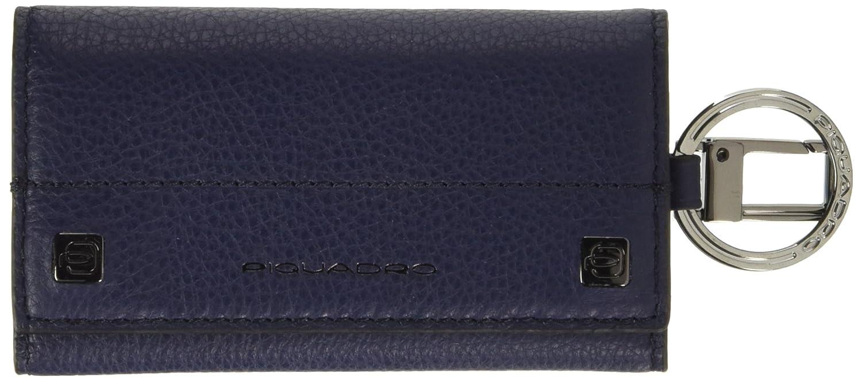 Piquadro Portachiavi Collezione Sirio, Pelle, Blu, 12 cm PC1397W72/BLU