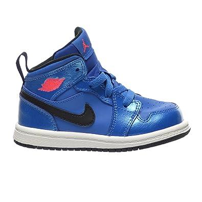 c31125dd401f Jordan 1 Mid BT Toddlers Infants Shoes Sport Blue Infrared 23 Black