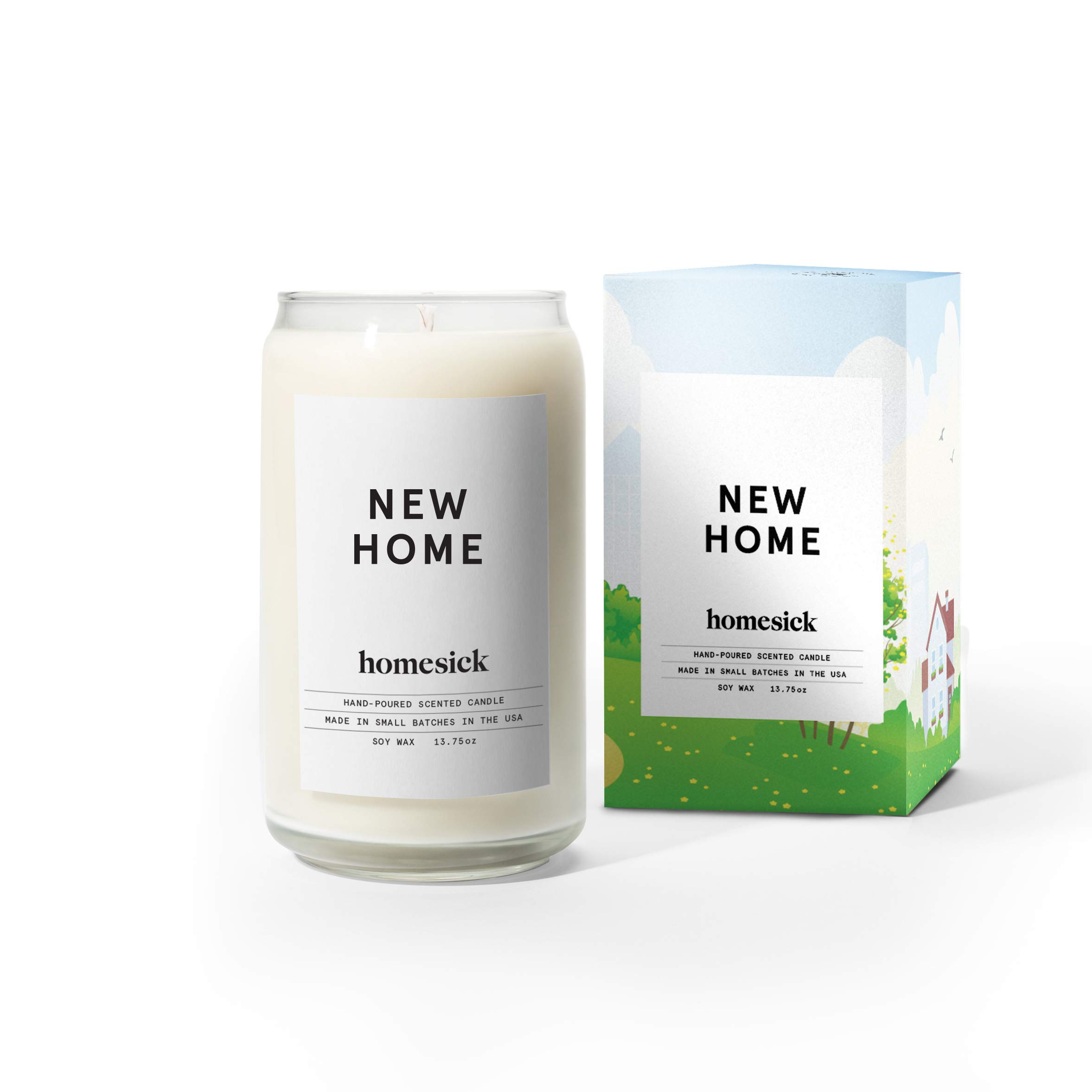 Homesick HSCA1-NHM-WH01 New Home Candle,