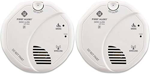 First Alert Smoke Detector Alarm Battery Powered with Wireless Interconnect 2-Pack, SA511CN2-3ST