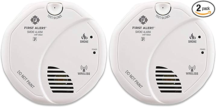 First Alert Smoke Detector Alarm Battery Powered With Wireless Interconnect 2 Pack Sa511cn2 3st Smoke Detectors Amazon Com