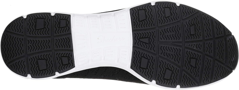 Skechers Seager-Stat, Baskets Enfiler Femme Noir Black Flat Knit Blk