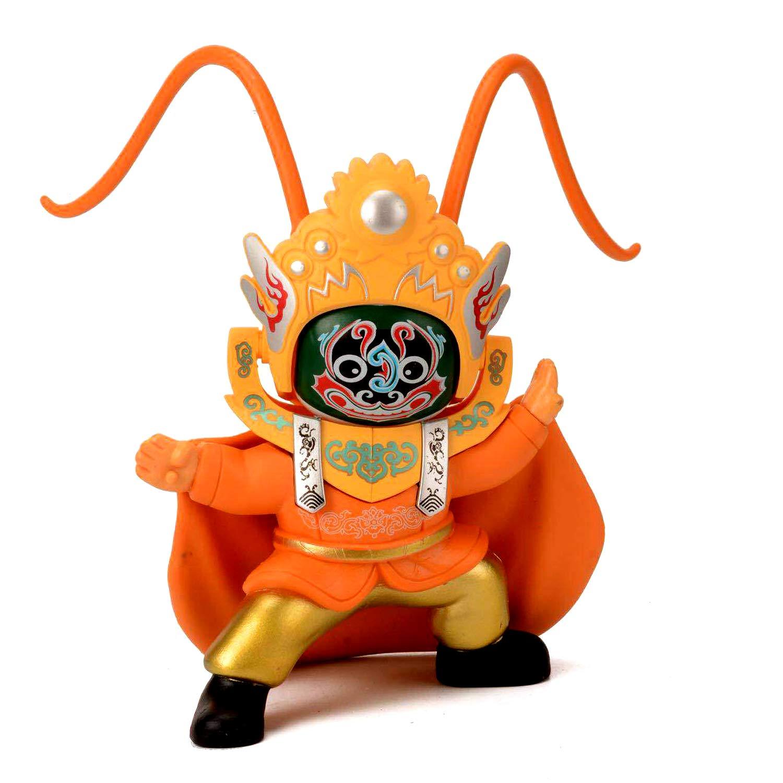 Jollymap Face Changing Doll Beijing Opera Sichuan Bianlian Chinese Traditional Culture Folk Art Change Face Toy Gift-Orange