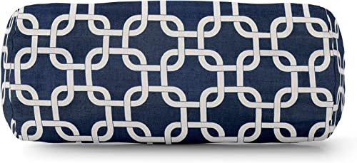 Majestic Home Goods Navy Blue Links Round Bolster
