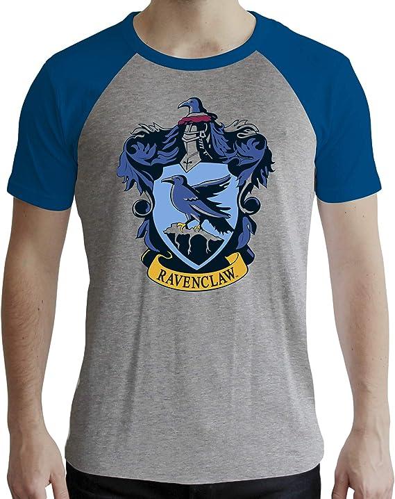 ABYstyle - Harry Potter - Camiseta - Ravenclaw - Hombre - Gris y Azul - Premium
