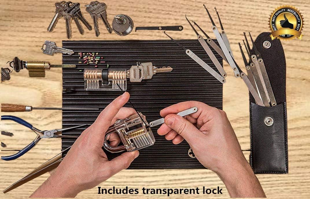 black1 15 PCS Lock Set Stainless Steel