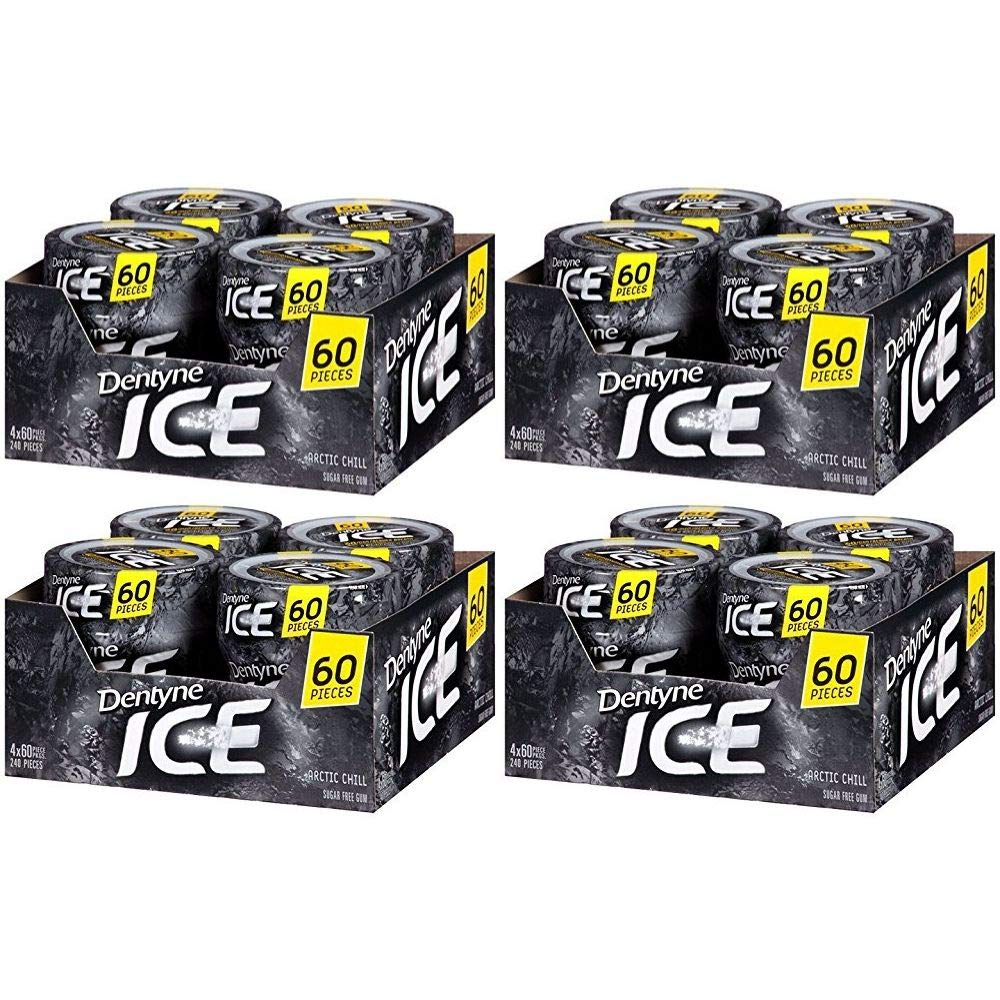 Ice Sugar Free Gum (Arctic Chill 60 Piece Pack of 4)