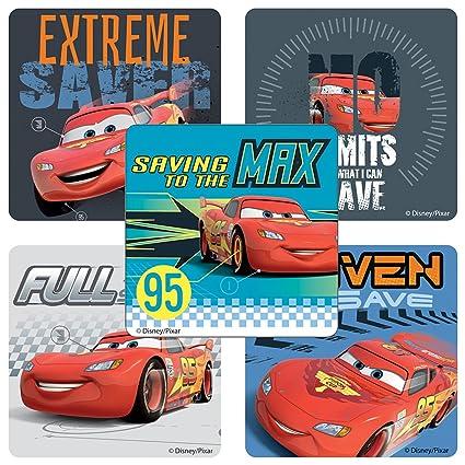 Amazon.com: SmileMakers Disney Cars Bank Stickers - Birthday ...