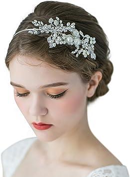 Sweetv Mariage Bandeaux Cheveux Diademe Fete Soiree Accessoires De Coiffure Avec Cristal Perle Headbands Pour Femmes Amazon Fr Beaute Et Parfum